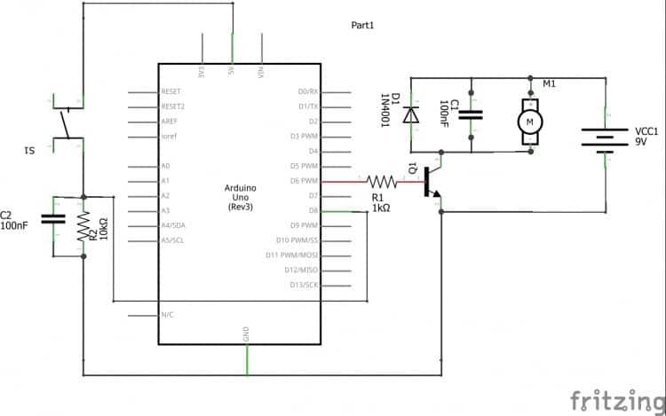 Sơ đồ lắp mạch điều khiển motor bằng PWM